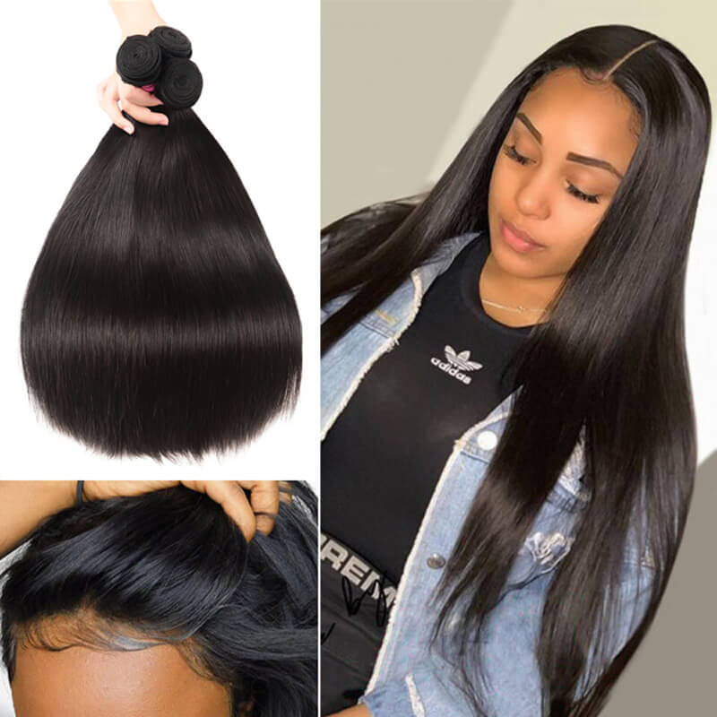 Nadula Best Bundle Soft Straight Hair Bundles Realistic Hairline