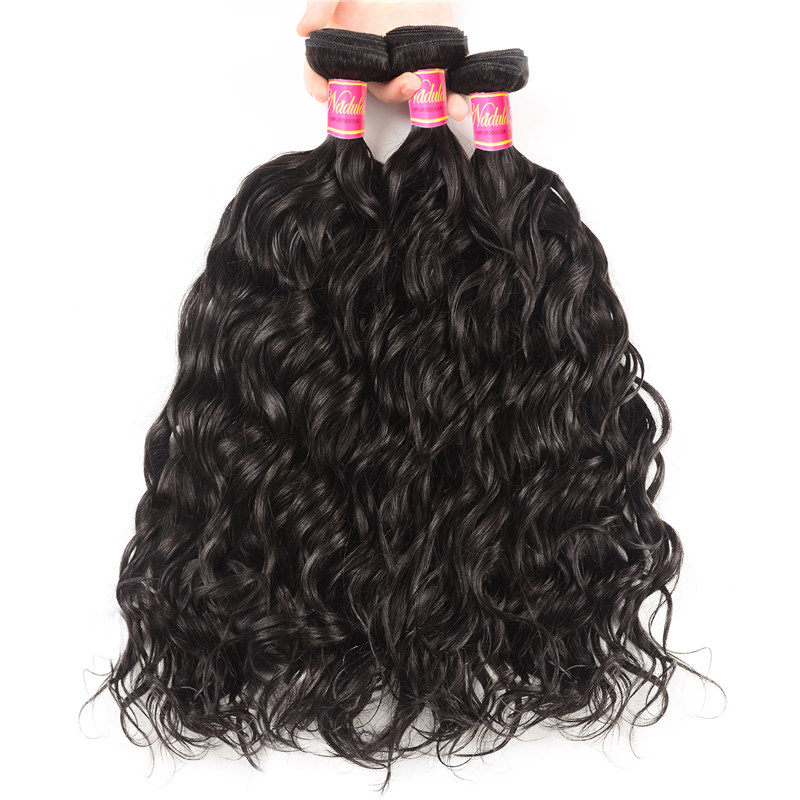 Nadula Best Indian Virgin Hair 3 Bundles Natural Wave Wavy