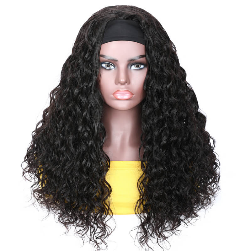 Nadula Cheap And Fashion Half Wig With Headband 100% Virgin Hair Long Water Wave Headband Wig