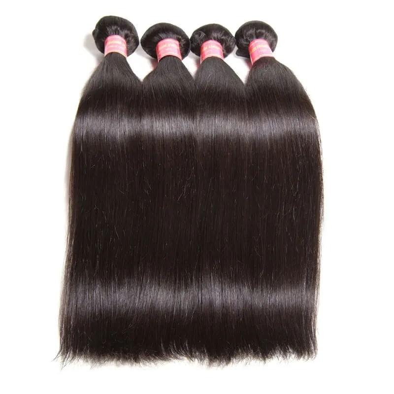 Nadula Silky Straight Hair 4 Bundles And Body WaveVirgin Human Hair Weaves