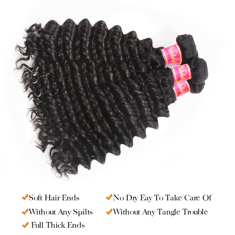 Nadula 4 Bundles Deep Wave Virgin Hair Weave