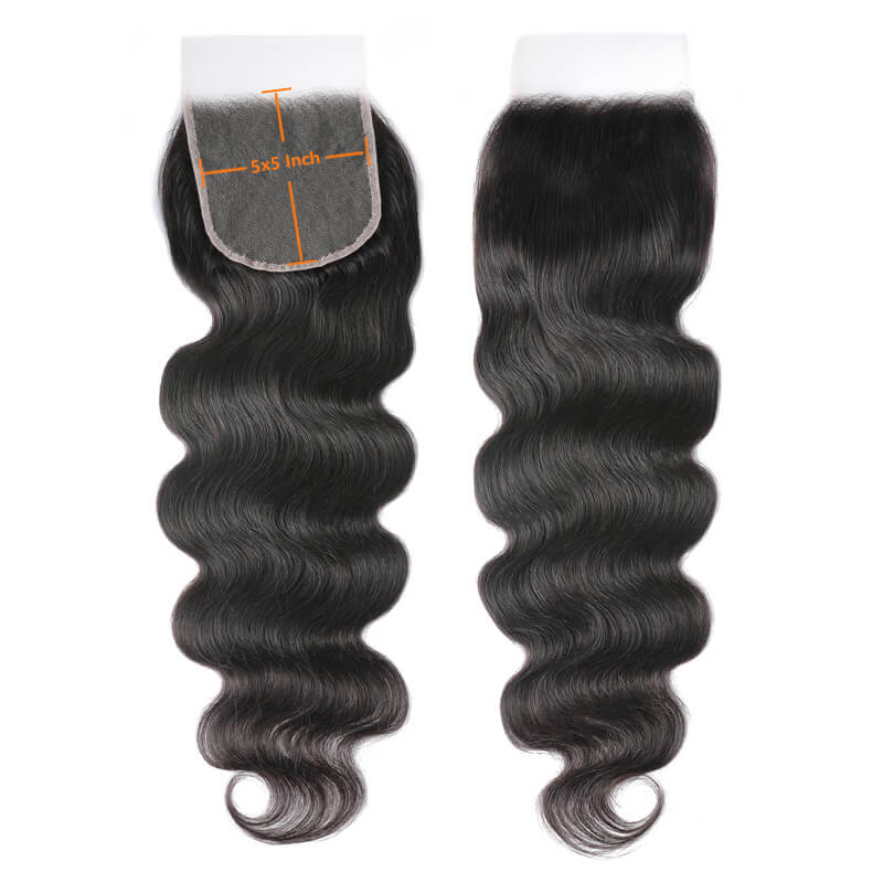 Nadula Glueless And Invisible Body Wave 5 By 5 Inch HD Lace Closure