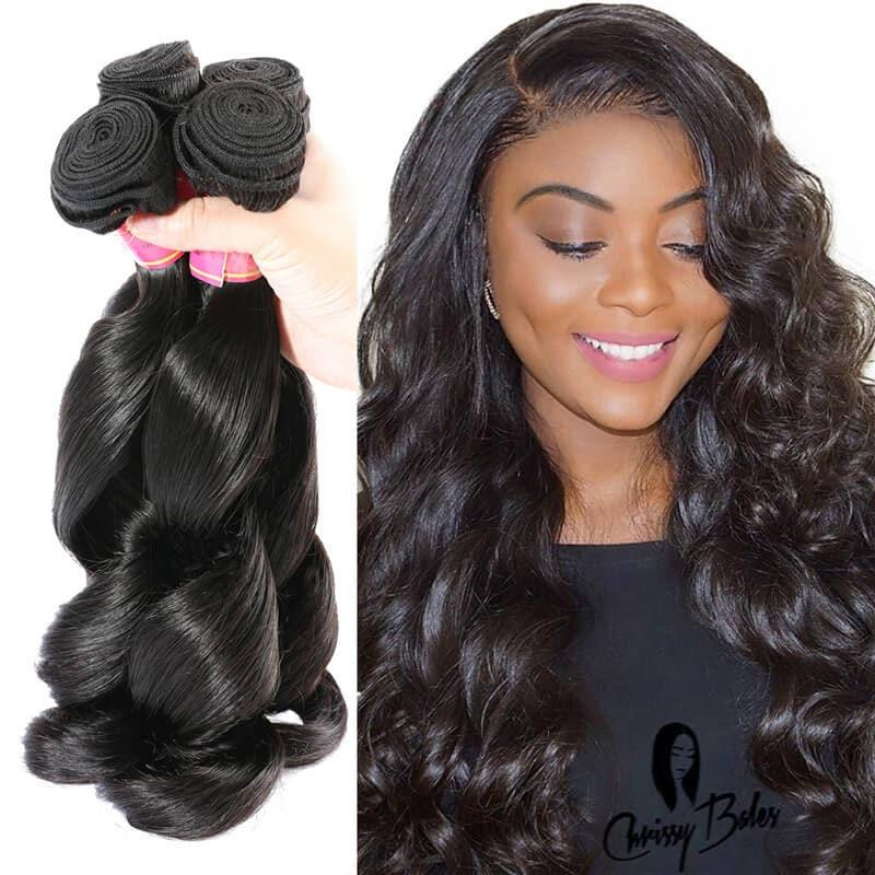 Nadula Good Quality Malaysian Hair Weave 3 Bundles Loose Wave Virgin Malaysian Weave