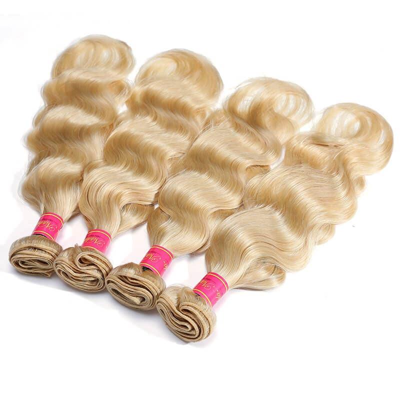 Nadula Hair 613 Honey Blonde Body Weave Virgin Human Hair