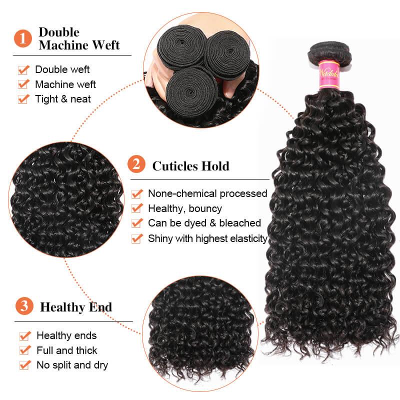 Nadula Jerry Curly 4 Bundles Human Hair Weave