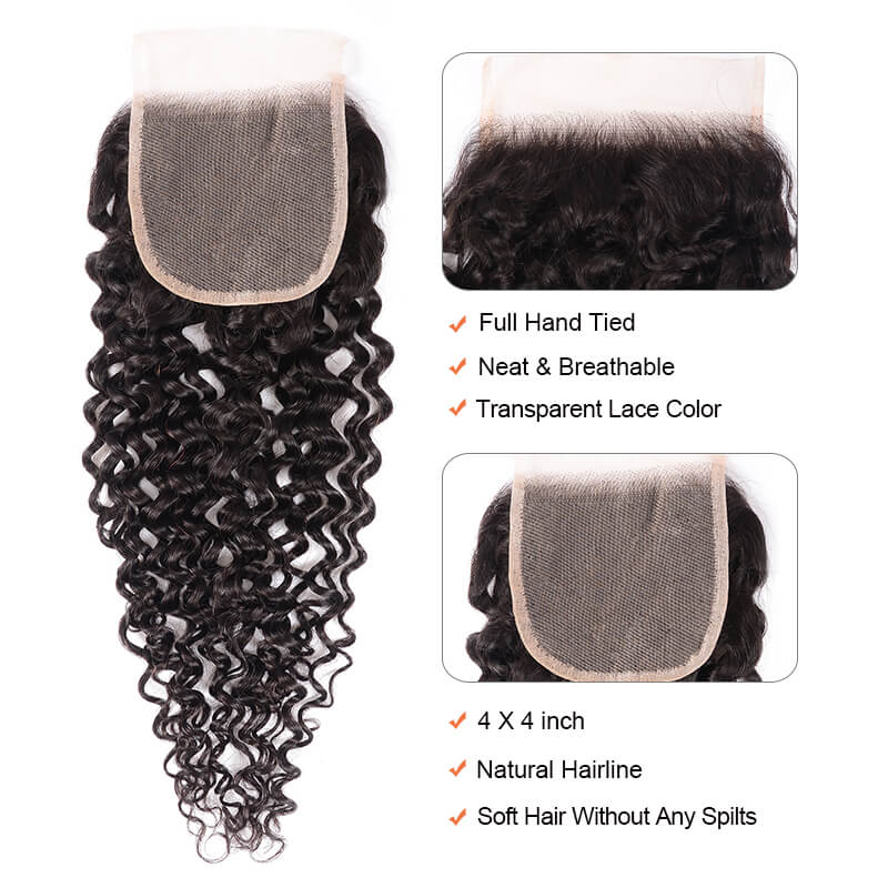 Nadula Jerry Curly Transparent Lace Frontal Closure