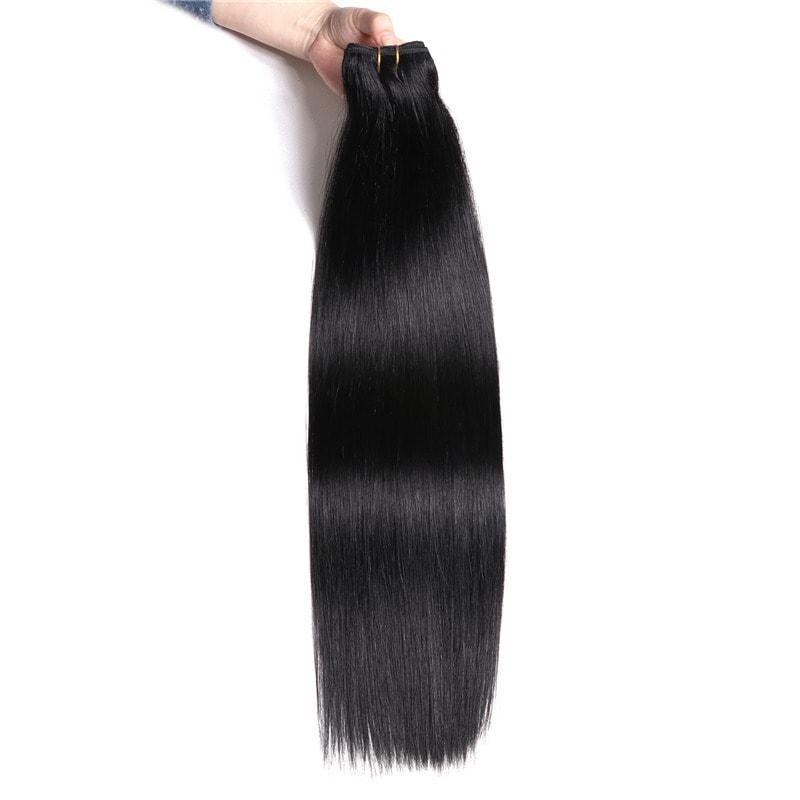 Nadula #1 Jet Black Straight Human Hair Weave Extensions
