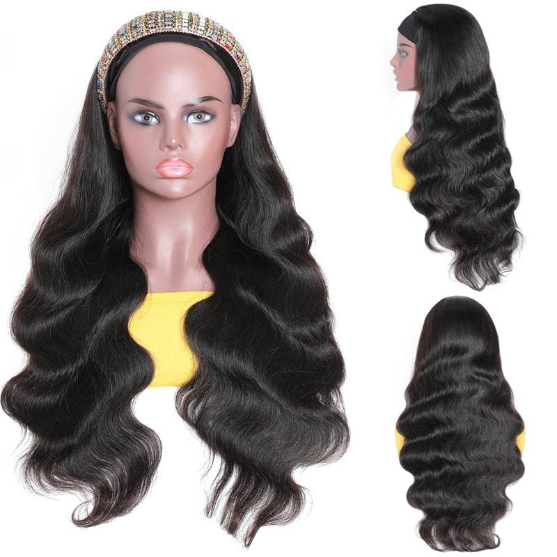 Nadula New Headband Wig Body Wave 34 Half Wigs With Headband