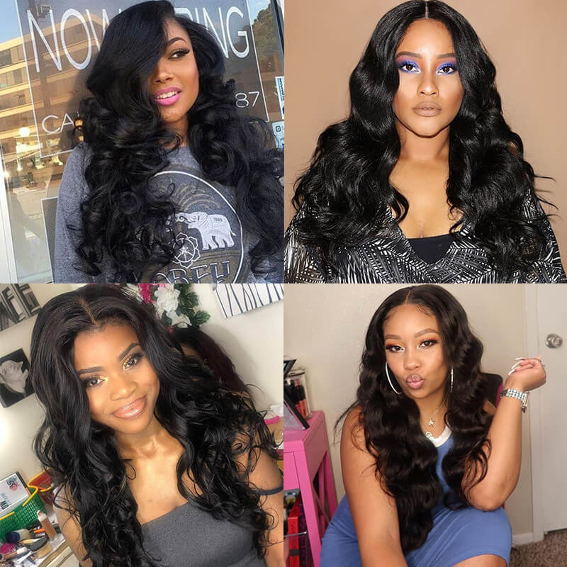 Nadula Real Indian Virgin Hair Weave Bundles 4 Pcs Soft Indian Body Wave Human Hair Extensions