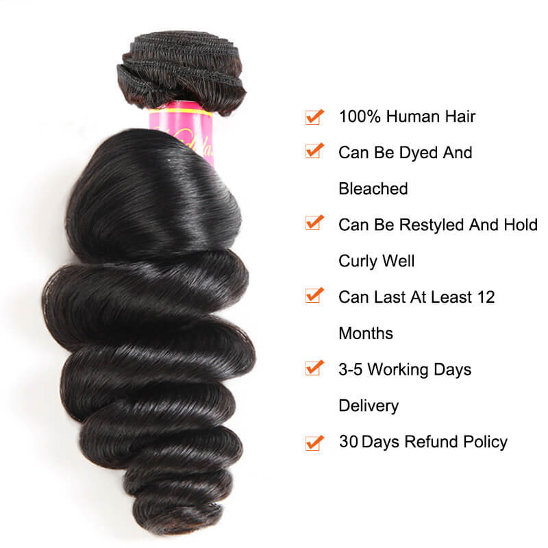 Nadula Soft Virgin Brazilian Loose Wave Hair
