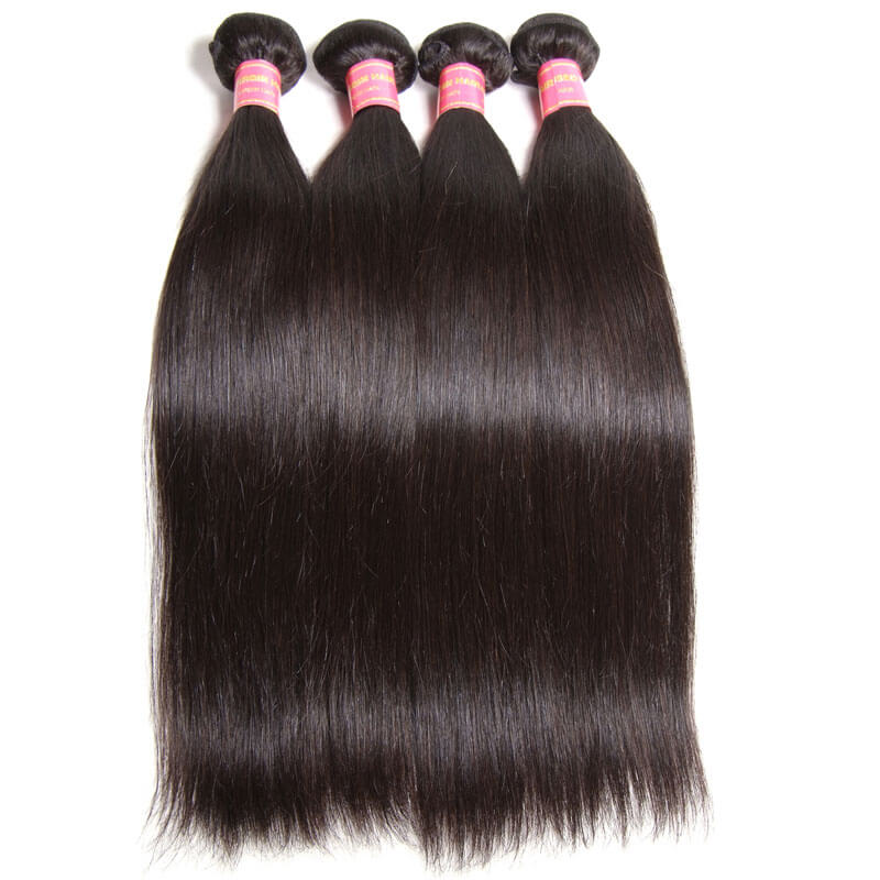 virgin brazilian straight hair 4 bundles