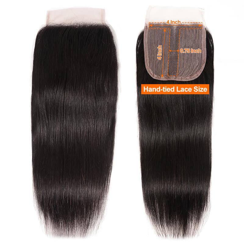 Nadula 4*0.75 Inch T Part Straight Virgin Hair Closure