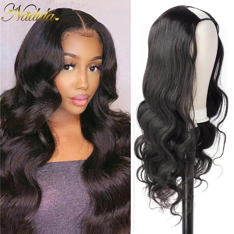 Nadula Body Wave U Part Wig Human Hair Wigs 150% Density Glueless Natural Looking Hairline Beginner Friendly