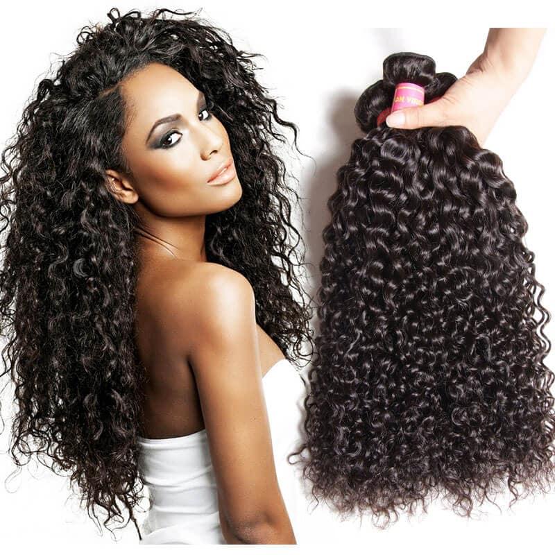 Nadula Unprocessed Virgin Indian Curly Hair Weave 3 Bundles Real