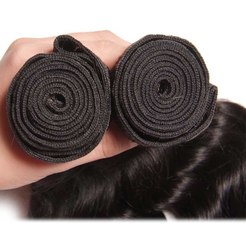 the head of brazilian hair bundles natural wave