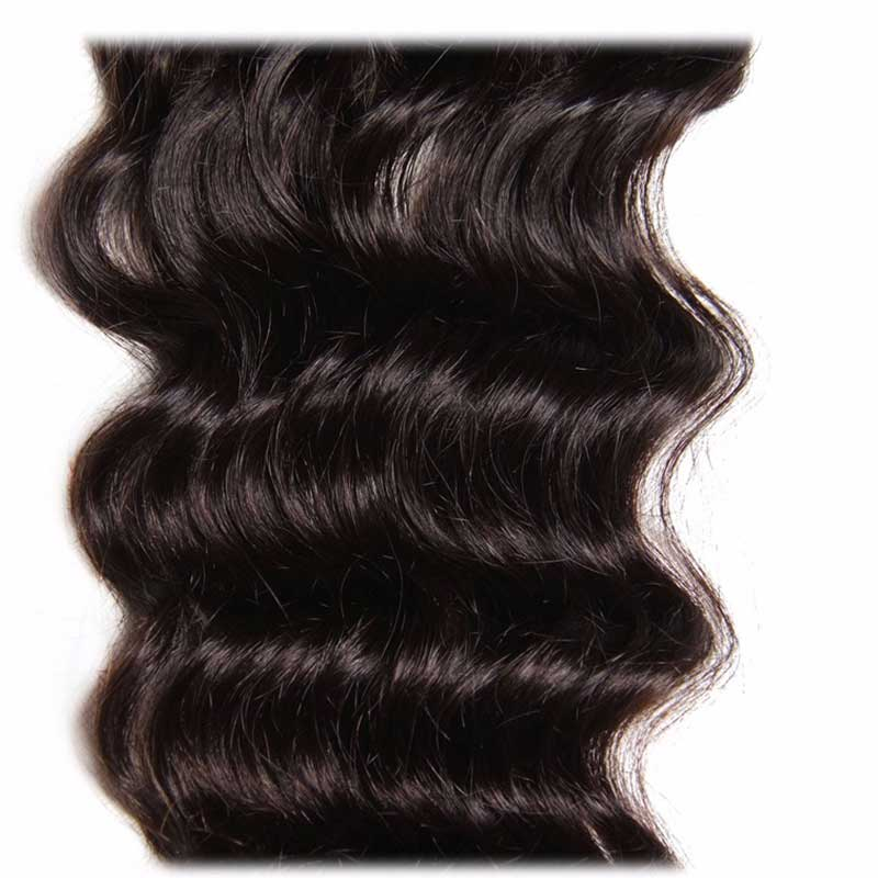 the middle of natural wave lace closure