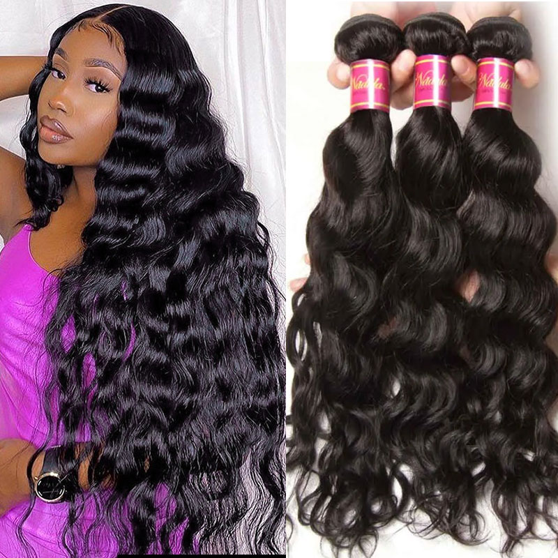 Indian Natural Wavy hair 3 Bundles