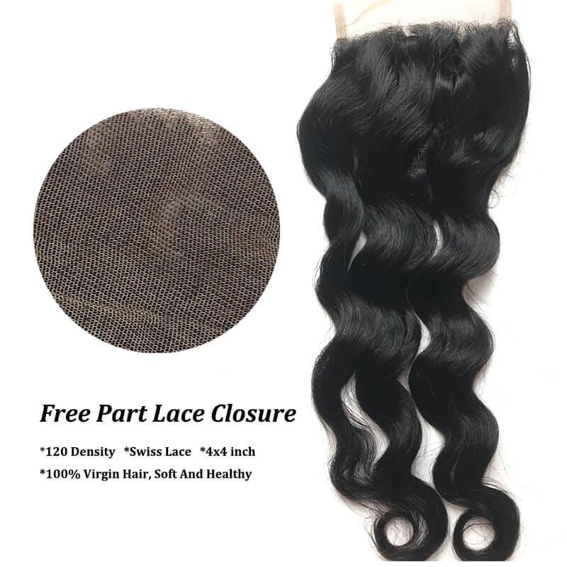 lace closure free part