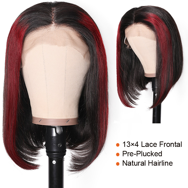 Nadula Straight Hair Highlights Wig Pre Plucked Wig Natural Hairline
