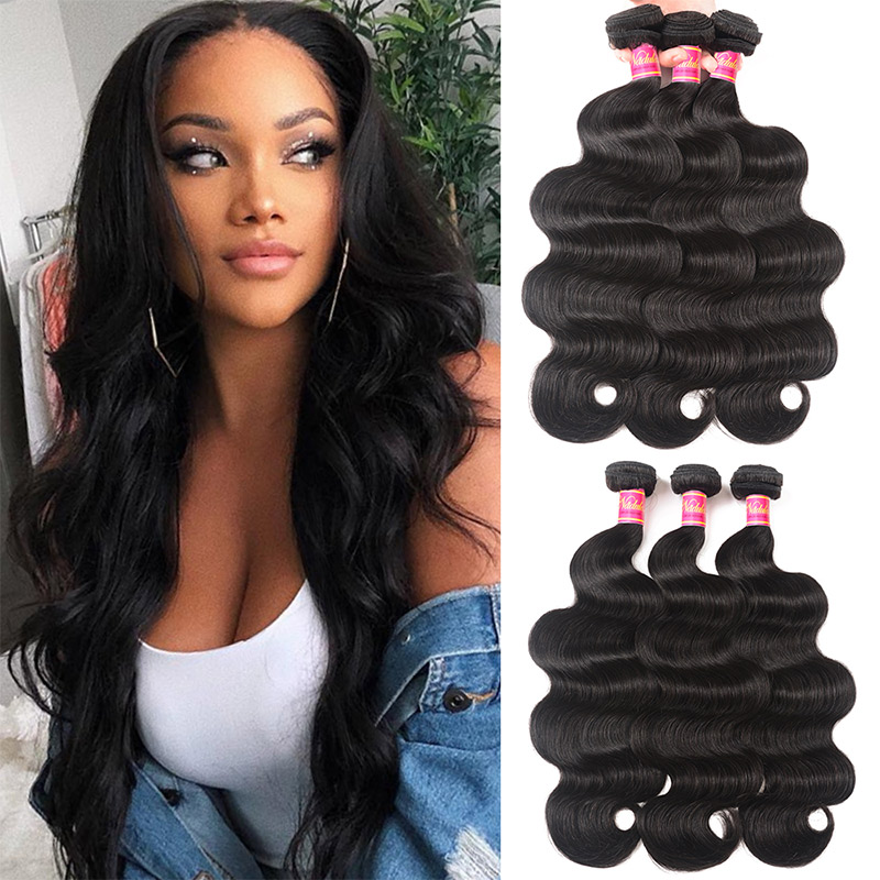 Nadula Hot Selling Body Wave Virgin Hair 3 Bundles Deals Wavy Human Hair Weave