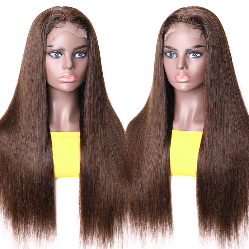 Brown Human Hair Wigs With Baby Hair