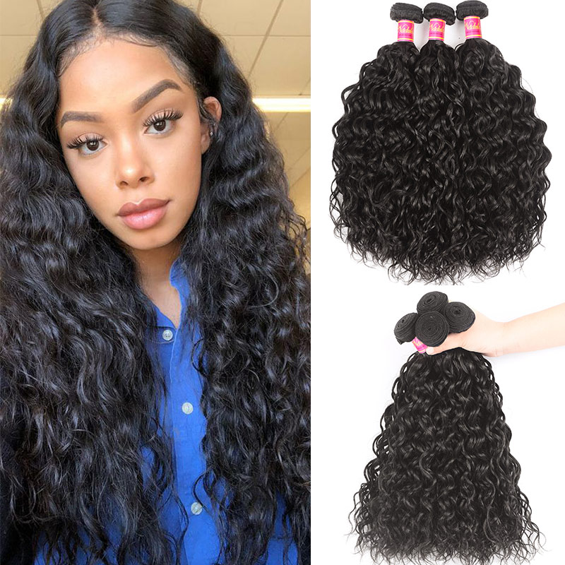 Nadula Best Virgin Brazilian Water Wave Hair Weave 3 Bundles Deals Hot Selling New Hair Style