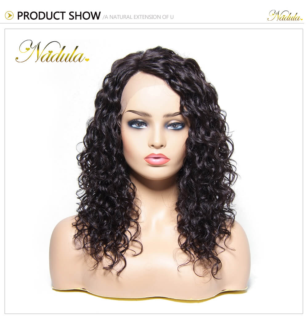 Nadula 100% Human Hair Deep Curly Lace Front Wigs Deep Wave Virgin ... d3f35639a4
