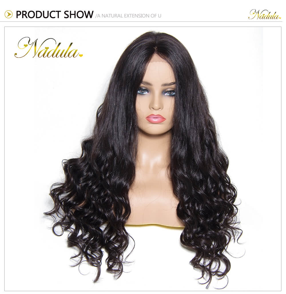 Nadula 100% Human Hair Deep Curly Lace Front Wigs Deep Wave Virgin ... f94bb6e31584