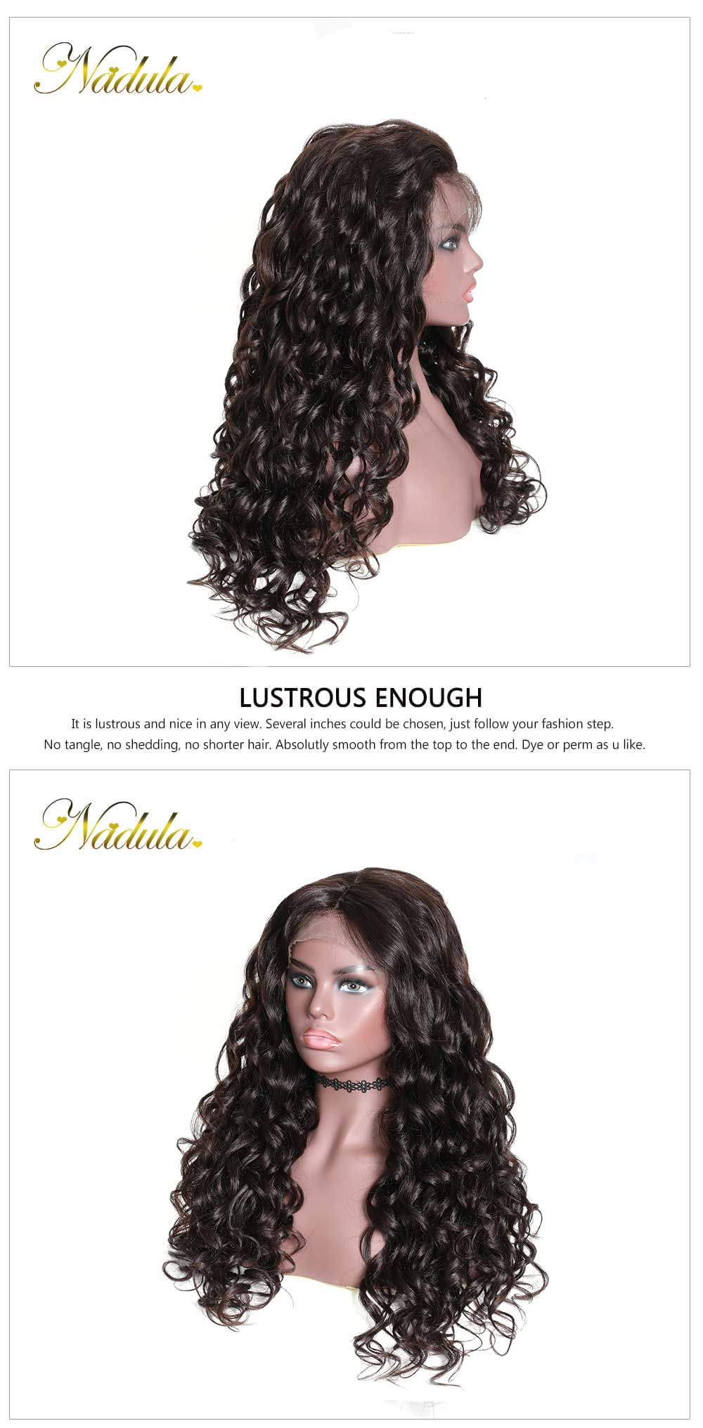 Nadula Mix Curly Wig Lace Front Human Hair Pre Pluck Wigs