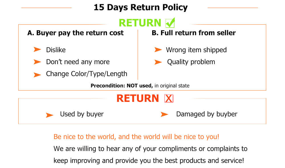 15 days Return Policy