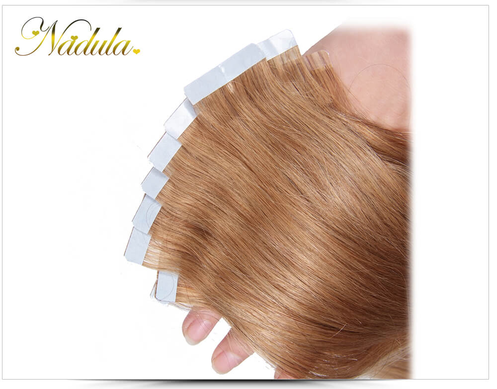 Nadula 100 Remy Human Hair Tape In Extensions Double Sided Skin Weft