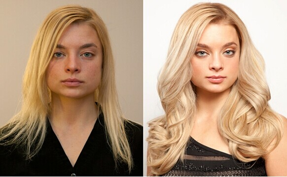 the before and after effect of doing hair extensions