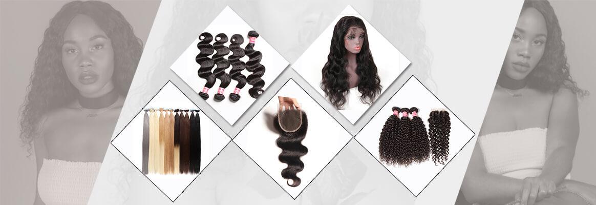human hair bundles, wigs, hair extension, bundle with closure deals