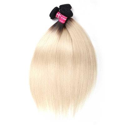 blonde human hair weave