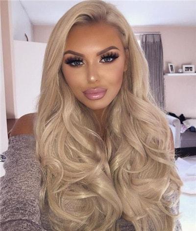 blonde human hair wigs