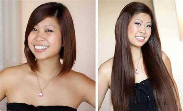 clip in hair extensions for short hair before and after
