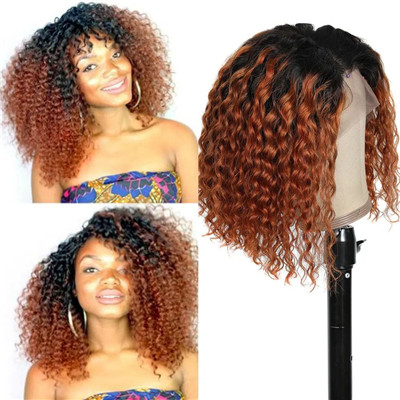 short blonde curly wigs