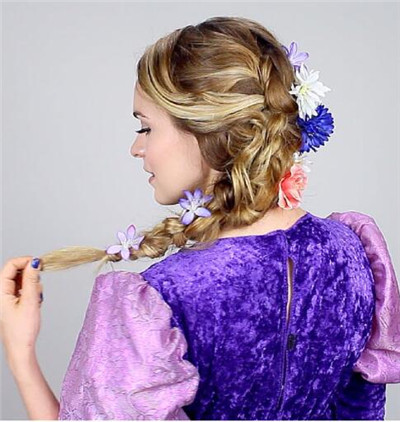 rapunzel hairstyles for Halloween