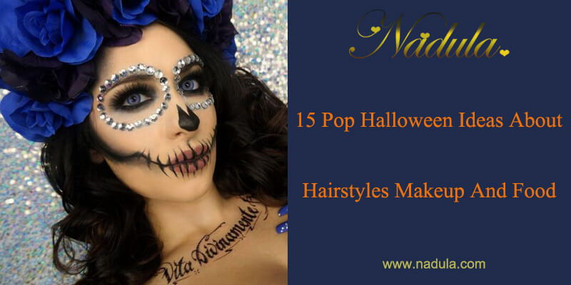 15 Pop Halloween Ideas About Hairstyles Makeup And Food