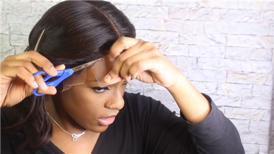 how to cut a lace front wig