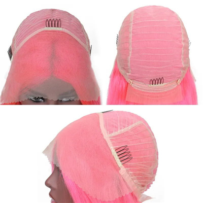 pink lace front wig