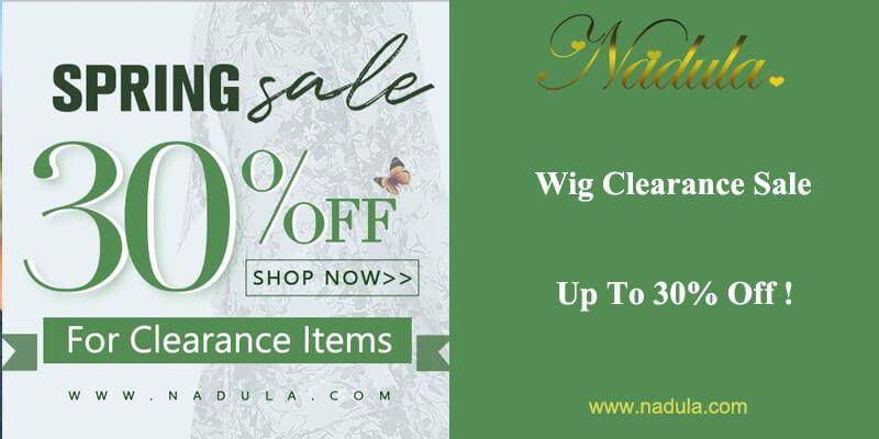 Wig Clearance Sale Up To 30% Off