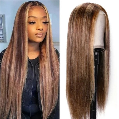 blonde hand tied lace wig