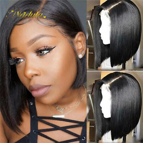 straight bob wig lace frontal