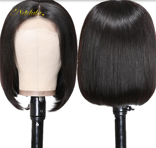 Straight short bob lace front wigs