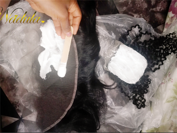 bleaching knots on lace closure
