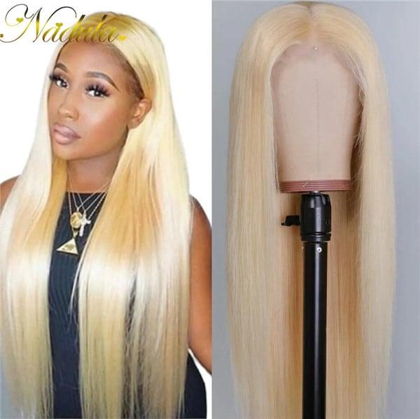 blonde wig transparent