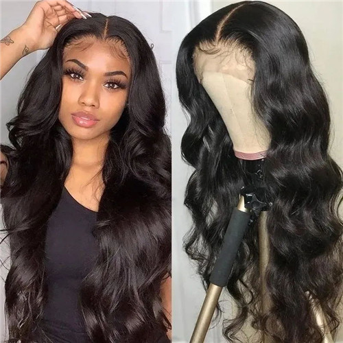 body wave lace front closure wig