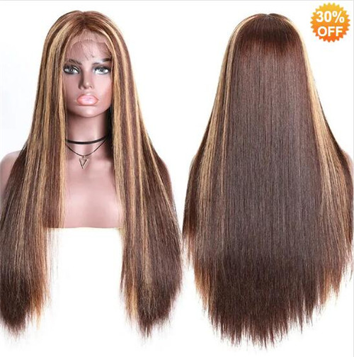 brown blonde wig
