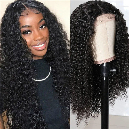 Curly Lace Front Closure Wigs